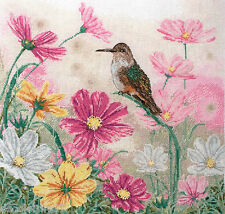 Maia  01218  Bird and Floral  Kit Broderie Point de Croix Compté