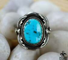Navajo Richard Begay Sterling Silver & Turquoise Statement High Relief Ring