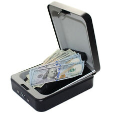 Combination Lock Box Security Pistol Safes Cash Handgun Box for Car Truck Home