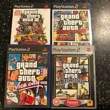 4x PS2 GTA GAMES SET GRAND THEFT AUTO III SAN ANDREAS VICE LIBERTY CITY STORIES