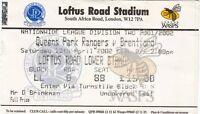 Ticket - Queens Park Rangers v Brentford 13.04.02
