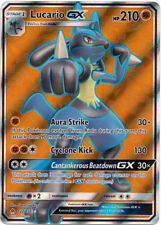 x1 Lucario GX - 122/131 - Full Art Ultra Rare Pokemon SM6 Forbidden Light M/NM