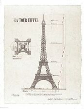 ART PRINT La Tour Eiffel Eiffel Tower 18x22 Yves Poinsot