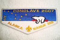 OA NANUK LODGE 355 ALASKA COUNCIL SCOUT PATCH BEAR DIPPER 2007 CONCLAVE FLAP
