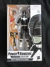 New Hasbro Power Rangers Lightning Collection Mighty Morphin Black Ranger NIB