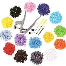 300X Resin DIY Clothing Snap Button Craft Sewing Accessories with Pressure Plier