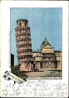 Pisa Italien Italia AK 1906 Il Duomo e il Campanile Schiefer Turm Tower Litho-AK