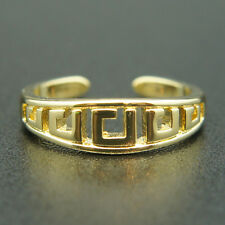 14k Yellow Gold Plated Classy Versace-style Ring Suit Size 5 6 7 8 9