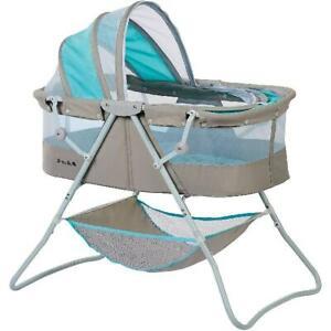 Baby Bassinet W/ Storage Infant Nursery Crib Basket Sleeper Bed Cradle Foldable