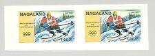 Nagaland (Propaganda) 1971 Skiing, Olympics 1v Imperf S/S Collective Proof Pair