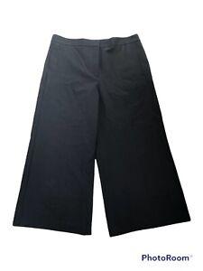 Ann Taylor The Marina Wide Leg Pants Women's Size 14 Black High Rise