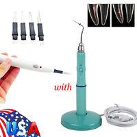 S Dental Cordless Gutta Percha Obturation System Endo Heated Pen+Tips+Gum Cutter
