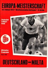 DFB Länderspiel Deutschland - Malta 28.02.76 in Dortmund