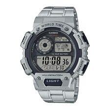 Casio World Time Digital Cas130 10 Year Battery LED Light 100m WR Men's Watch