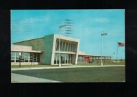 1962 Glass House Restaurant Indiana Toll Road Postcard With Glass House Logo