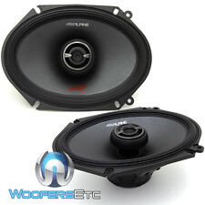 "ALPINE R-S68 6""X8"" TYPE-R 300W 2WAY SILK TWEETERS COAXIAL CAR AUDIO SPEAKERS NEW"