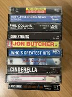 VTG  70's-80'-90's Rock Cassette Tapes Lot  -  10 Albums - UnTested  (Lot K)
