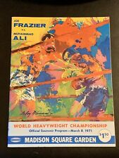 Mint 1971 Joe Frazier Vs. Muhammad Ali On Site Heavyweight Championship Program