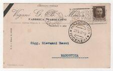 VIGANO' FABBRICA MAROCCHINI MONZA VIAGGIATA 1931 FP #74
