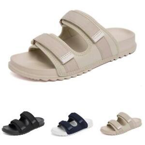 Summer Men's Beach Slippers Shoes Walking Sports Flats Slip on Casual Open Toe