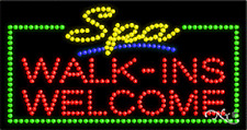 """New """"Spa Walk-Ins Welcome"""" 32x17 Solid/Animated Led Sign w/Custom Options 21114"""