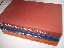 3 Livres La luxure du matin, Les plaisirs insolites, Une soupe aux herbes