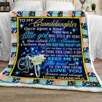 To My Granddaughter, Grandma Sofa Fleece Blanket 50x60x80