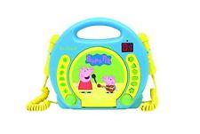 Peppa Pig - lector CD con 2 Micrófonos infantil (lexibook Rcdk100pp)