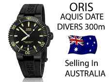 Oris AQUIS DATE MENS Steel  ( Black & Yellow . WATCH RRP $2400  . In Australia