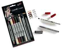 COPIC CIAO PENS - 5 + 1 MANGA SET 5 - GRAPHIC ART MARKERS PENS + FINELINER