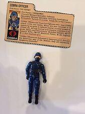 1983 Vintage GI Joe Swivel arm  Cobra Officer w/ Filecard