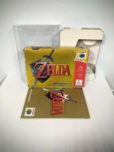 BOX MANUAL ONLY The Legend Of Zelda Ocarina Of Time N64 Nintendo 64 AUS PAL OOT