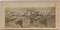 Francia Panorama Da Parigi Le Sept Ponti Foto Stereo Vintage Albumina Ca 1860