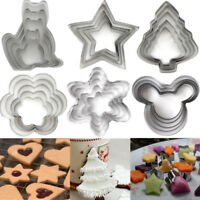 5x Stainless Steel Cookie Cutter Mould Biscuit Pastry Mold Fondant Cake Decor