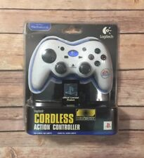 Sony PlayStation 2 Logitech Cordless Action EA Sports Wireless Controller White