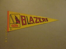 WHA Vancouver Blazers Vintage Defunct 1970's Logo Hockey Pennant