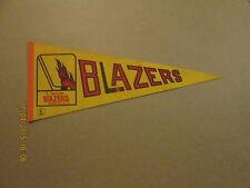 WHA Vancouver Blazers Vintage Defunct Hockey Pennant