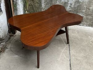 1950s Mid Century Mahogany Amoeba Coffee Table After Paul Frankl
