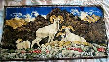 "Vintage Ram Mountain Sheep Tapestry Wall Decor Wall Art Velvet 38"" x 19"""