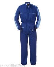 Tuta Intera Coreana da Lavoro Meccanico Officina Gommista Blu Azzurra A42307