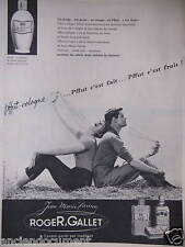 PUBLICITÉ 1959 ROGER & GALLET PFFUT-COLOGNE JEAN MARIE FARINA - ADVERTISING