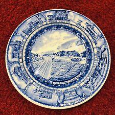 "Baltimore & Ohio Railroad Lamberton Blue China Salad Plate 8"" Potomac Valley"