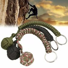 1 x Paracord Monkey Fist with heavy Steel Ball inside Knife Lanyard Key Chains