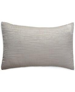 Donna Karan STANDARD/QUEEN Pillow Sham Silk Blend Reflection SILVER A03335