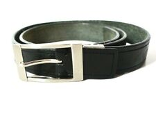Vintage Classic Mens Leather Belt Black Size 36