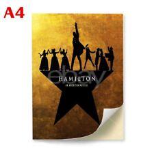 Hamilton American Musical A4 Custom Glossy Stickers Wall Decor Decals Laptop Car