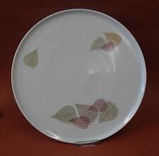 """Kuchenplatte """" Thomas ( Rosenthal ) """" weiß / Blätter Dekor D.: 30cm"""