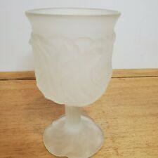 Avon Clear Frosted Glass Votive Candle Holder