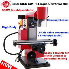 NEW! SIEG SU1 HiTorque Vertical / Horizontal Milling Machine - High Body