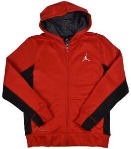 Air Jordan Therma-Fit Full Zip Youth Hoodie [Gym Red and Black]